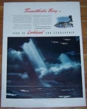 1941 Lockheed Aircraft Corporation Life Magazine Color Advertisement