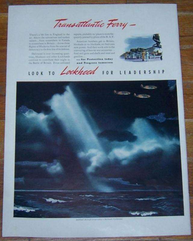 1941 Lockheed Aircraft Corporation Life Magazine Color Advertisement