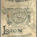 Victorian Trade Card For Lion Coffee  Easter Greeting with Birds and Lilies