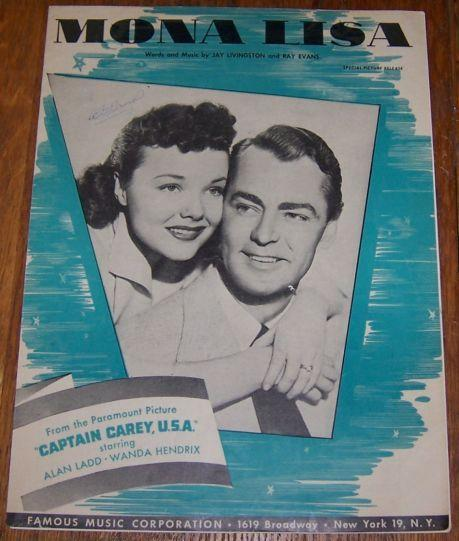 Mona Lisa From the Paramount Picture Captain Carey U. S. A Starring Alan Ladd