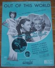 Out of This World From The Powers Girl starring George Murphy, Anne Shirley 1942