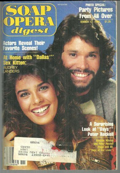 Soap Opera Digest March 13, 1984 Kristian Alfonso and Peter Reckell From Days