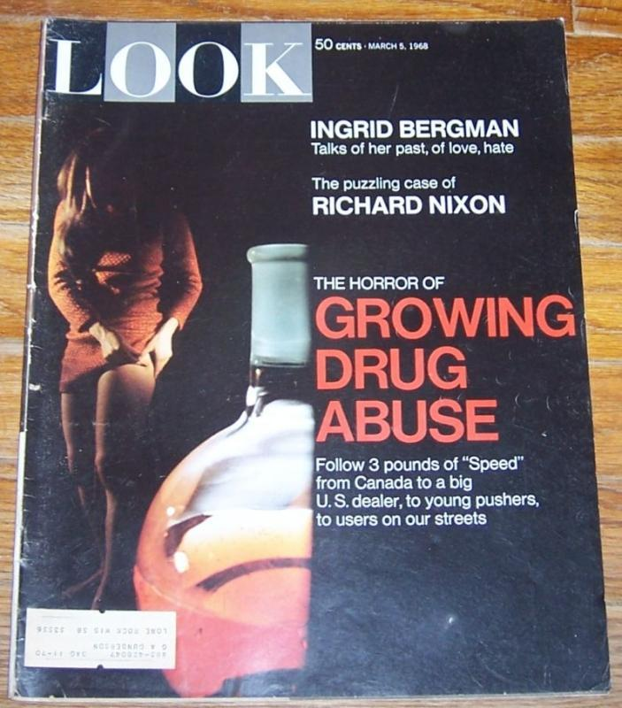 Look Magazine March 5, 1968 The Horror of Growing Drug Abuse On cover