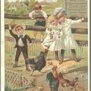 Victorian Trade Card for Dr. Hand's Remedies for Children w/Children w/Chickens
