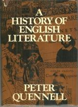 History of English Literature by Peter Quennell 1973 1st edition with Dustjacket