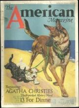 American Magazine March 1933 13 For Dinner by Agatha Christie/Barrymores