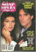 Soap Opera Digest March 11, 1986 Finola Hughes and Michael Praed on Cover