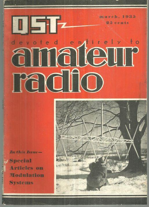 QST Mag Devoted Entirely to Amateur Radio March 1935 Navy Day 1934