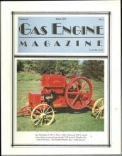 Gas Engine Magazine March 1992 7 HP Model K Waterloo Boy on Cover