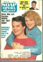 Soap Opera Digest April 18, 1989 Justin and Adrienne From Days Of Our Lives