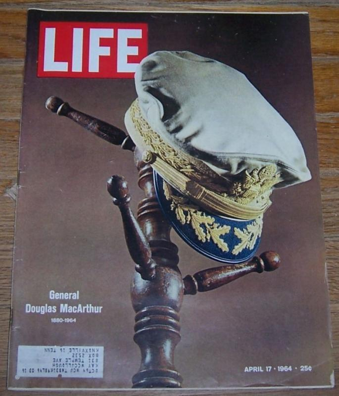 Life Magazine April 17, 1964 Memento of General Douglas MacArthur on Cover