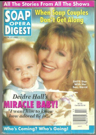 Soap Opera Digest Magazine April 27, 1993 Deidre Hall's Miracle Baby on Cover
