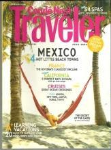Conde Nast Traveler Magazine April 2008 Oaxaca's Zicatela Beach on the Cover