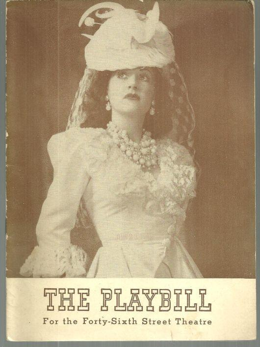 Playbill Ethel Merman in Panama Hattie, Monday June 23, 1941 Forty Sixth Street
