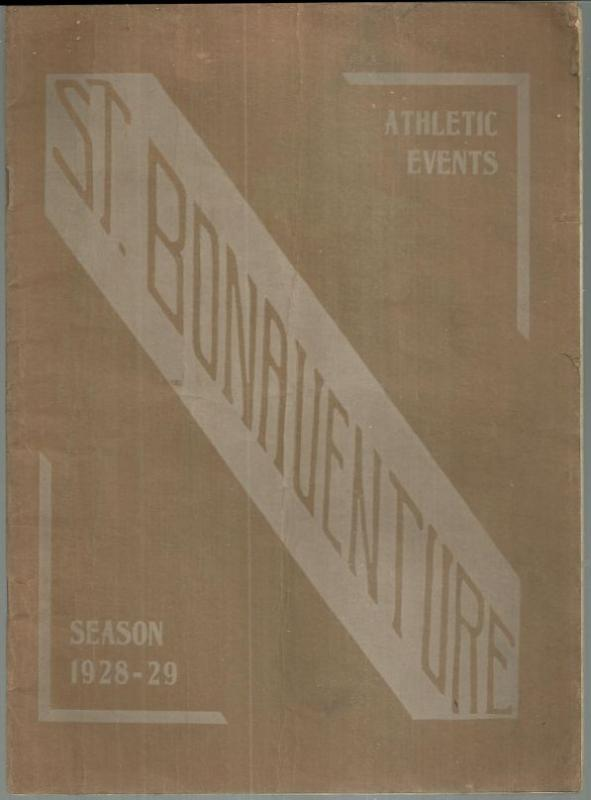 St. Bonaventure College Official Athletic Program Season 1928-1929 Football