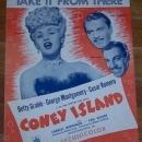 Take It from There Sung by Betty Grable in Coney Island 1942 Sheet Music