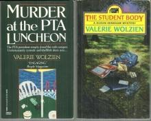 Lot of Two Susan Henshaw Mysteries by Valerie Wolzien PTA Luncheon/Student Body