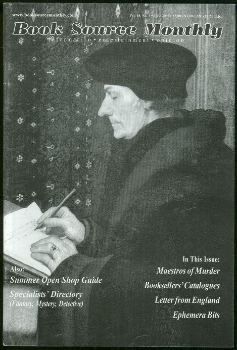 Book Source Monthly Magazine June 2002 Maestros of Murder Hammett Chandler