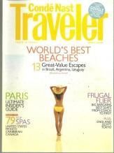 Conde Nast Traveler Magazine April 2009 World's Best Beaches on the Cover