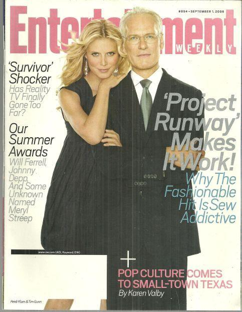 Entertainment Weekly Magazine September 1, 2006 Project Runway on Cover