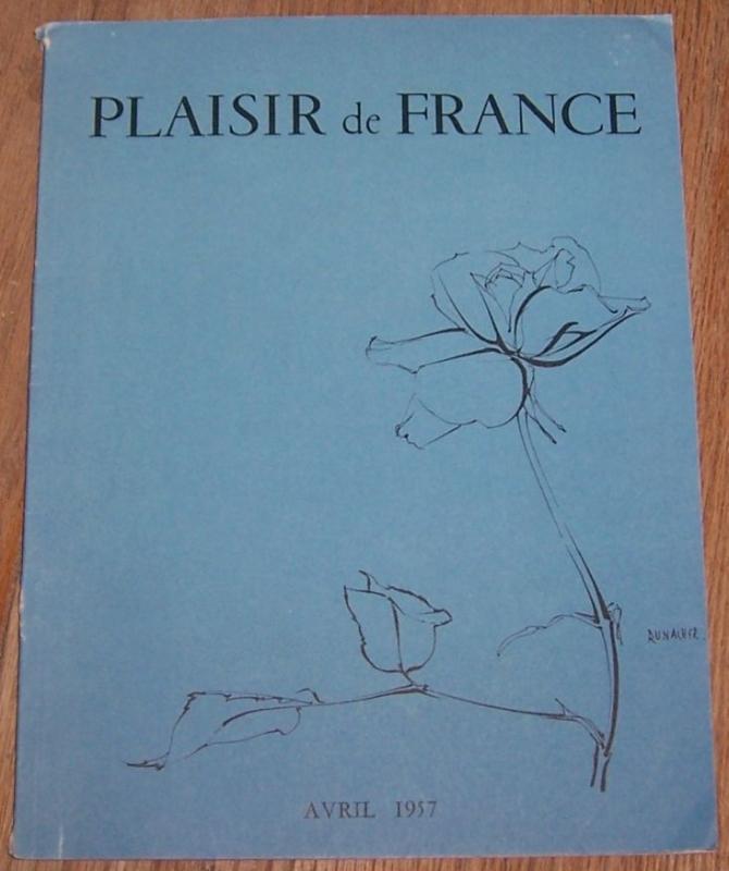 Plaisir de France (Images of France) Magazine April 1957 Vintage Photos and Ads