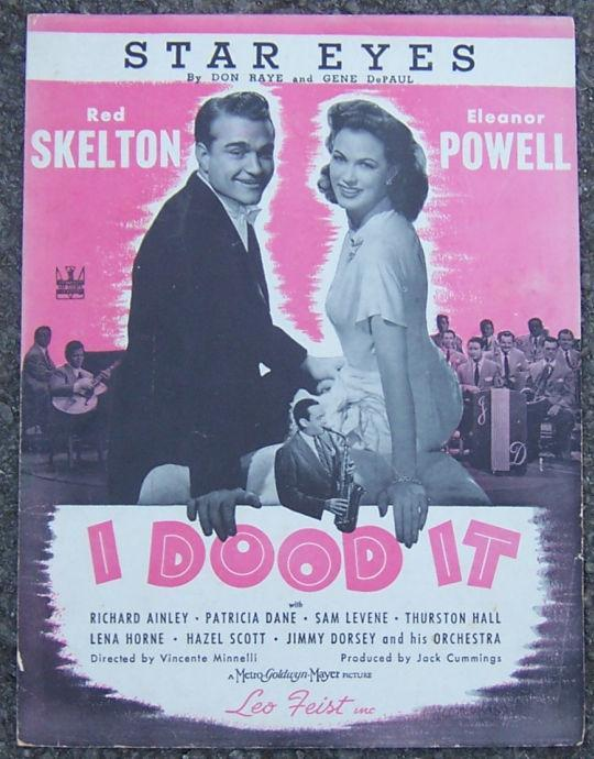 Star Eyes From I Dood It Starring Red Skelton 1943 Sheet Music