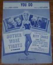 You Do From Mother Wore Tights Starring Betty Grable 1947 Sheet Music