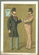 Victorian Trade Card For The Claudent Scarf The Best Fitting Scarf Ever Made