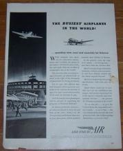 1941 Air Transport World War II Life Magazine Advertisement Save Time by Air