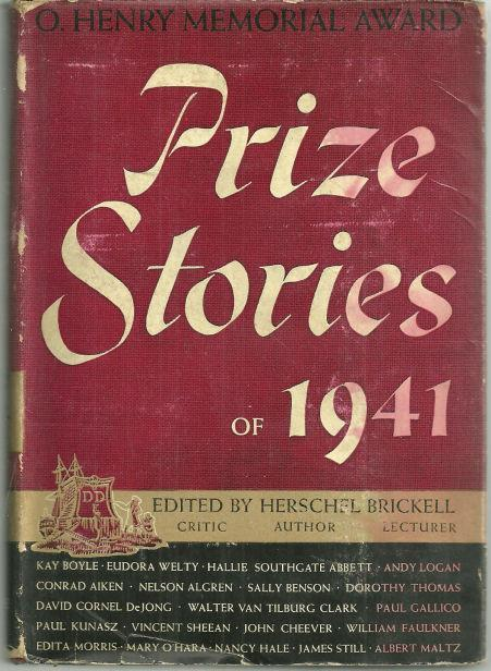 O. Henry Memorial Award Prize Stories of 1941 edited by Herschel Brickell w/DJ