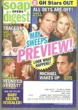 Soap Opera Digest April 28, 2009  May Sweeps Preview on the Cover