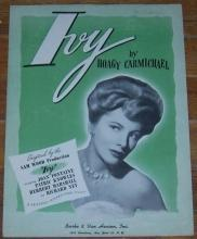 Ivy From the Movie Starring Joan Fontaine By Hoagy Carmichael 1947 Sheet Music