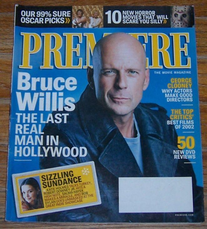 Premiere Magazine April 2003 The Movie Magazine Bruce Willis on cover/Oscars