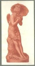 Victorian Trade Card for Sapolio with Terra-Cotta Statuette Ange Dechu