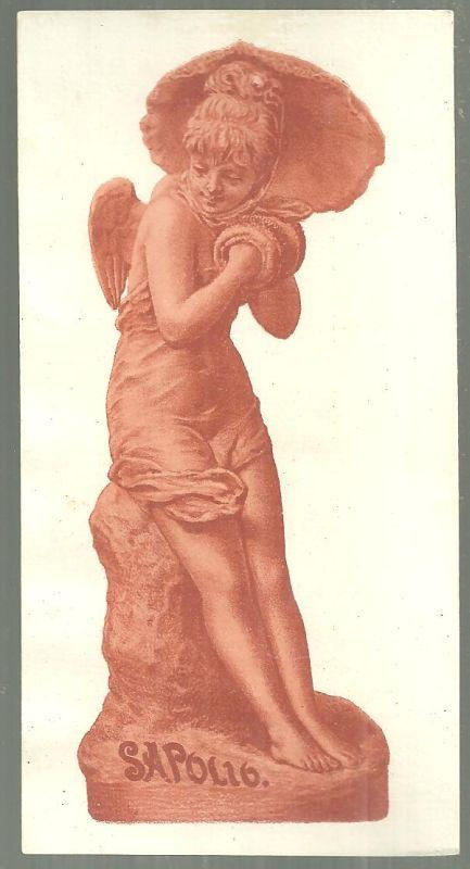 Victorian Trade Card for Sapolio with Terra-Cotta Statuette Ange Dechu