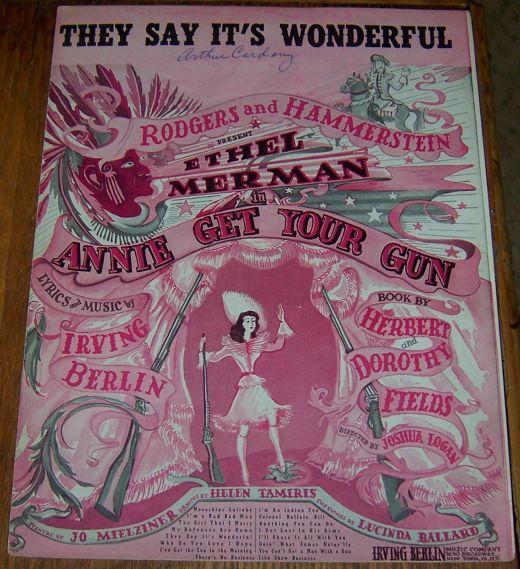 They Say It's Wonderful Ethel Merman in Annie Get Her Gun 1946 Sheet Music