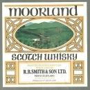 Vintage Moorland Scotch Whiskey Label with Pheasant Perth Scotland