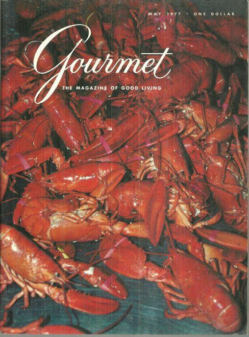 Gourmet Magazine May 1977 Lobster from Prince Edward Island on Cover