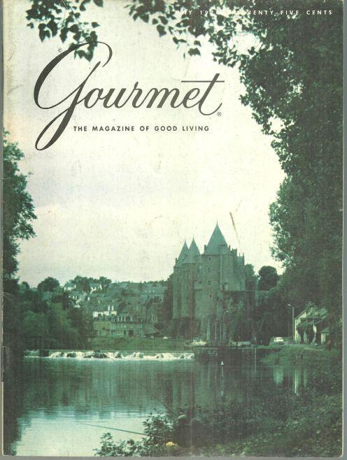 Gourmet Magazine May 1974 Chateau de Josselin, Brittany on Cover/Derby Day