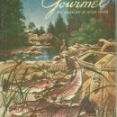 Gourmet Magazine May 1954 Trout/Gourmet's Guide to Britain  Henry Stahlhut Cover