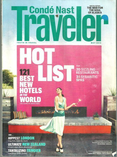 Conde Nast Traveler Magazine May 2012 Hot List/London Goes Electric/New Zealand