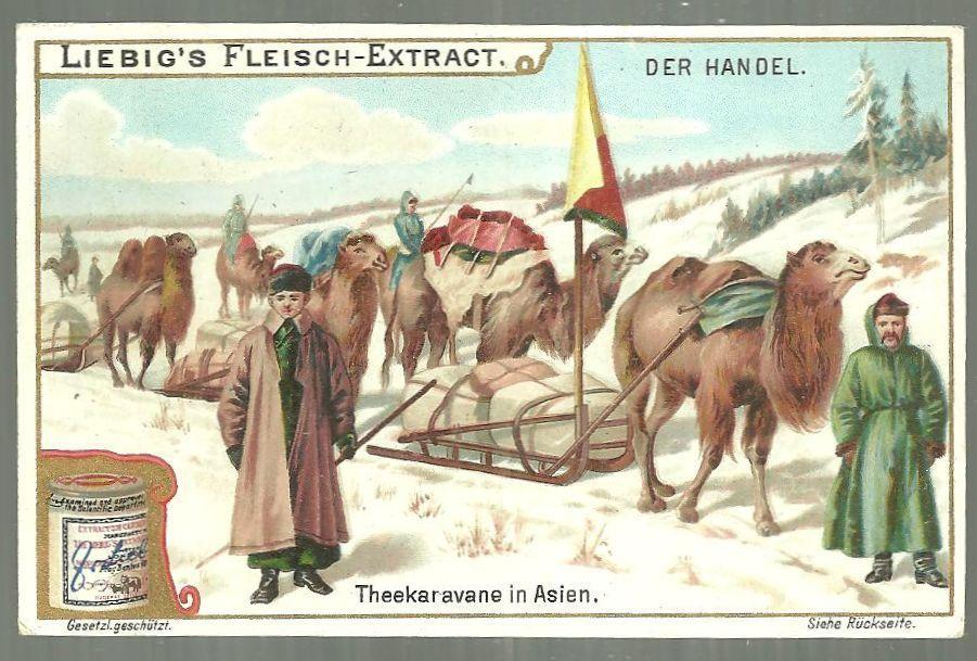 Victorian Trade Card for Liebig Company's Fleisch-Extract with Camel Caravan