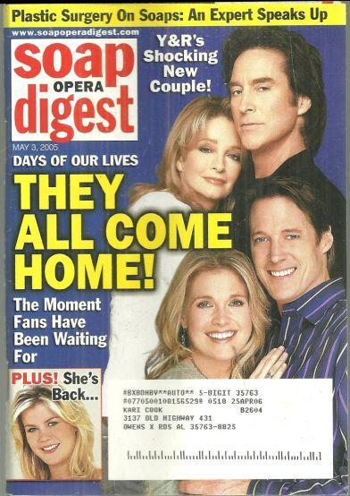 Soap Opera Digest Magazine May 3, 2005 Days of Our Lives They All Come Home