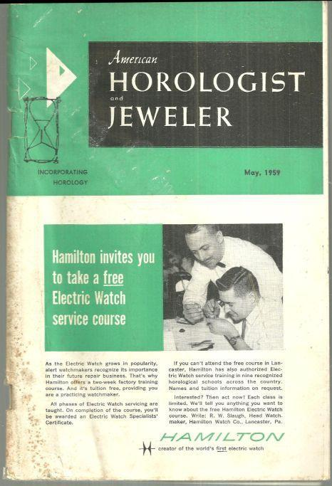 American Horologist and Jeweler Magazine May 1959 The Cyclotron Colored Diamond