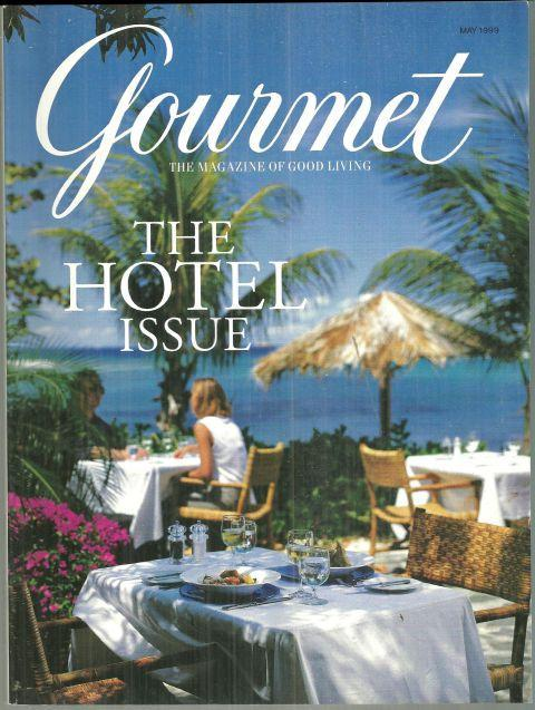 Gourmet Magazine May 1999 The Hotel Issue Little Dix Bay Virgin Gorda BVI Cover