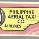 Vintage Label for Philippine Aerial Taxi Co. , Airlines
