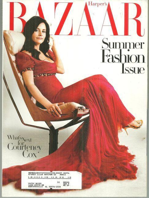 Harper's Bazaar Magazine May 2004 Special Summer Fashion Issue Courteney Cox