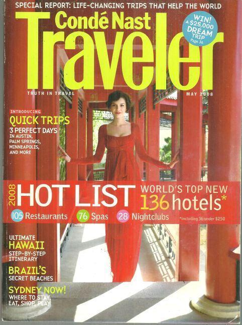 Conde Nast Traveler Magazine May 2008 Hot List/Macau/Voluntourism/Australia