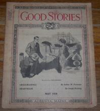 Good Stories Magazine May 1928 Household Chats, Vintage Fiction, Recipes, Poetry