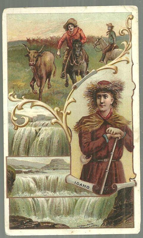 Victorian Trade Card for Arbuckle Bros. Coffee with Idaho